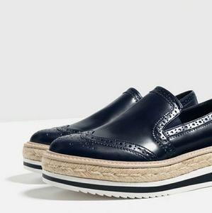 NWT- Zara espadrille platform sneakers